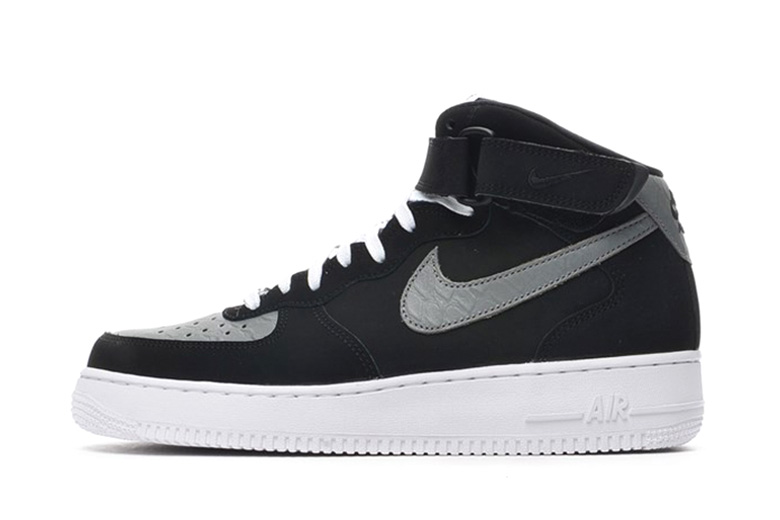 Nike Air Force 1 Mid Black/Grey Python