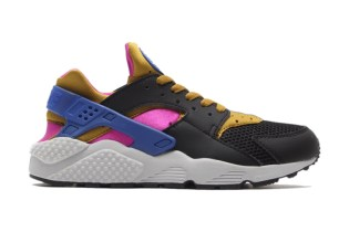 Nike Air Huarache Black/Bronzing-Fuchsia Force-Game Royal