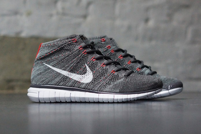 Nike Free Flyknit Chukka Midnight Fog/Mica Green-Bright Cream