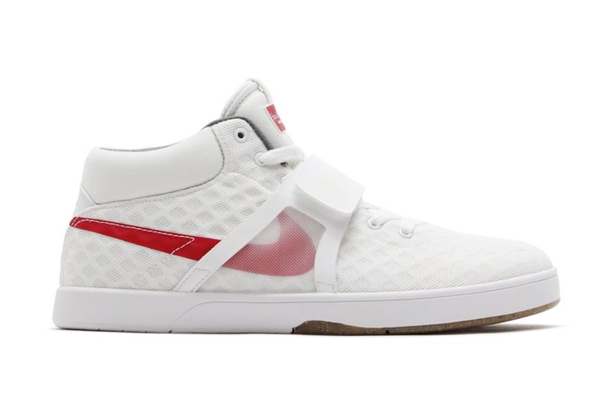 Nike SB Eric Koston Mid R/R White/Gym Red-Black-Gum Medium Brown