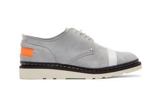 OAMC x Ateliers Heschung Grey Suede Contrast Derby Shoes