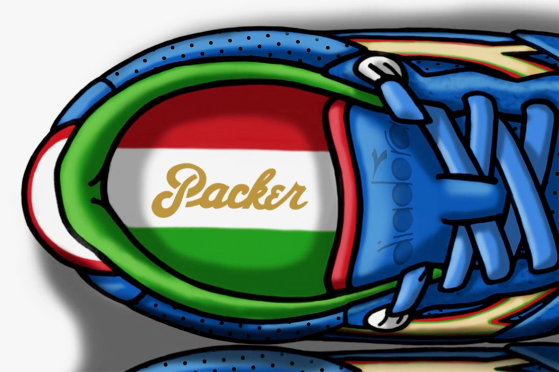 """Packer Shoes x Diadora N.9000 """"Azzurri"""" Teaser"""