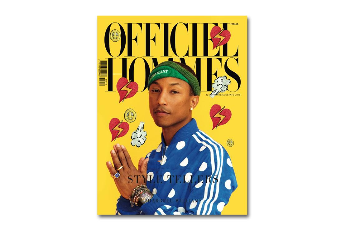 Pharrell Williams x adidas Originals Editorial for L'Officiel Hommes Italia