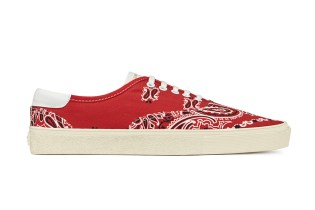 "Saint Laurent ""Paisley"" Sneakers and Accessories"