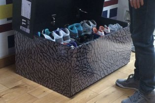 See How the Jordan Cement Sneaker Box is Transformed Into a Sneaker Armoire
