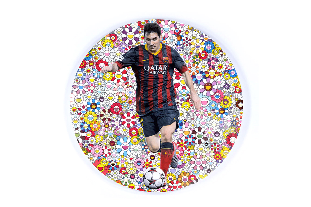 Takashi Murakami, Damien Hirst, and Lionel Messi for UNICEF's 1in11 Charity Campaign