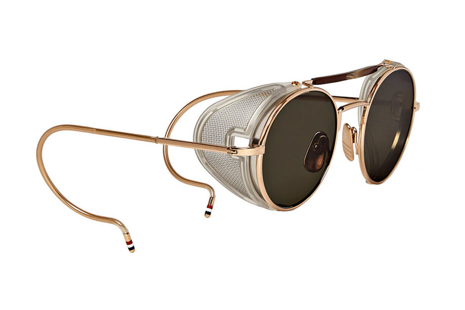 Round Gold Frame Sunglasses By Thom Browne : Thom Browne Round-Frame Gold-Tone Sunglasses HYPEBEAST