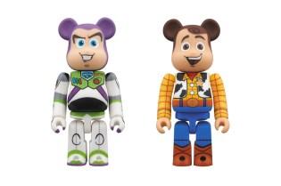 Toy Story x Medicom Toy 400% Woody and Buzz Lightyear Bearbrick