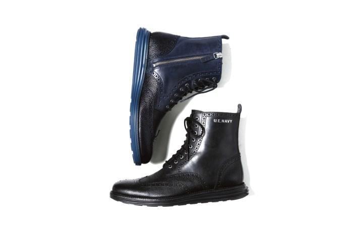 uniform experiment x Cole Haan Zip Up LunarGrand Wingtip Boots
