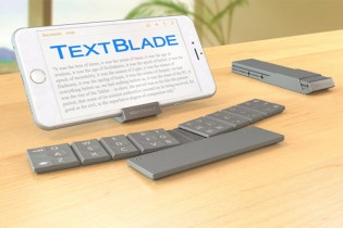 Waytools Textblade Keyboard is the Slimmest Full QWERTY Design to Date
