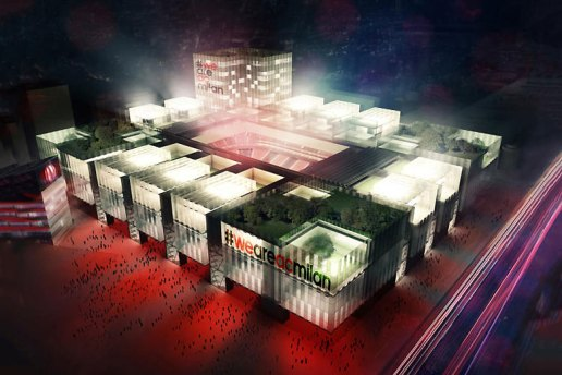 AC Milan to Expand Into a 48,000-Person Stadium Disguised as a Mall