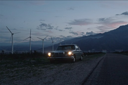 Belstaff x MR PORTER : ON THE ROAD 2 with a 1973 Mercedes-Benz 250C Coupé