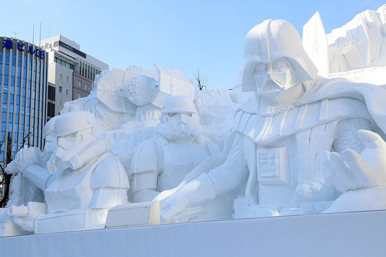 Building-Sized Star Wars Snow Sculptures Built for Sapporo Snow Festival