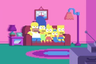 'The Simpsons' Opening in Pixels