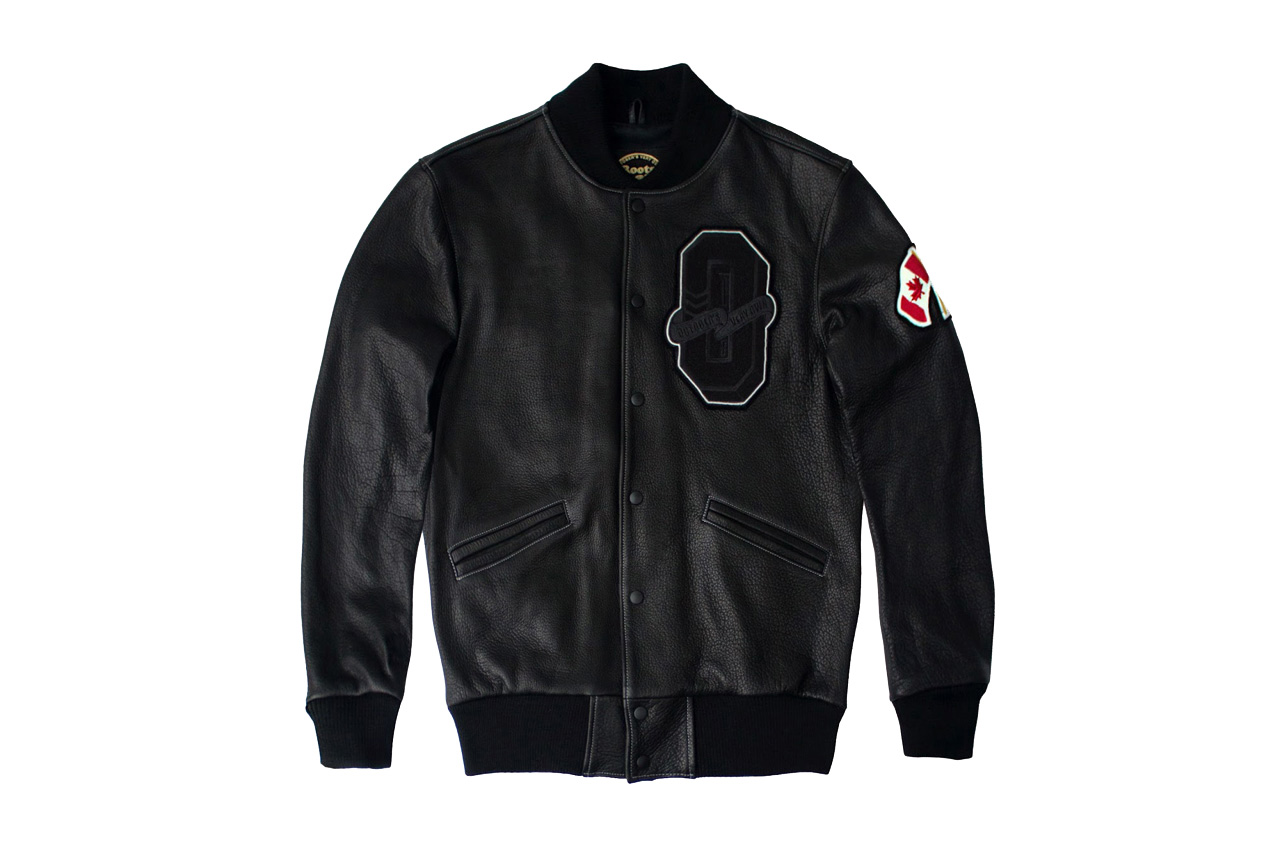 "Drake Presents OVO x Roots Canada 2015 ""October"" Varsity Jacket"