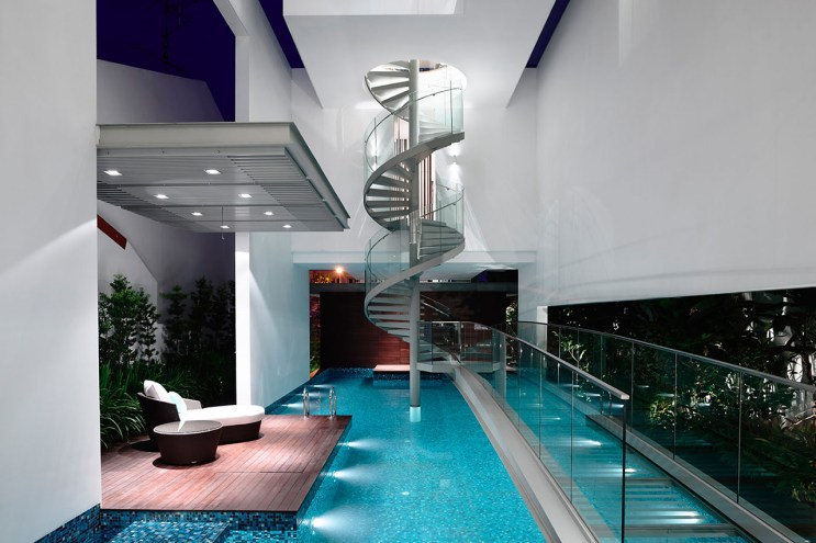 HYLA Architects Designs Three-Story Home Around Spiral Staircase