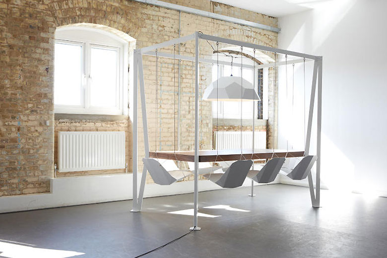 Imagine Sitting on Swings in Your Office Meetings
