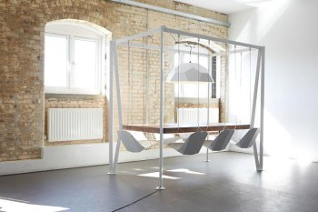 Imagine Sitting on Swings in Your Office Meetings