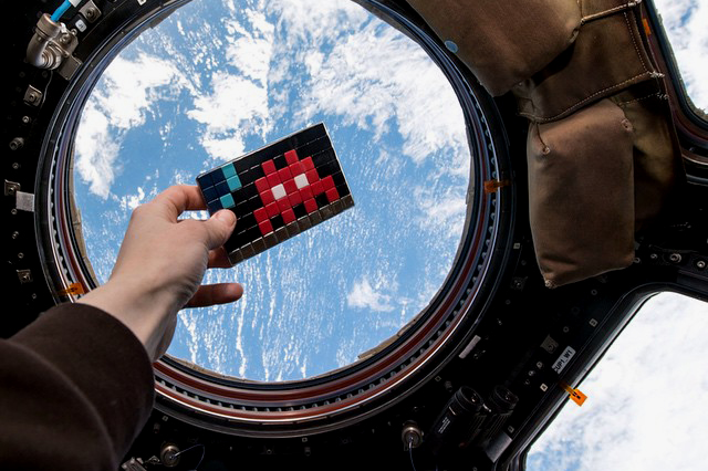 Invader Invades the International Space Station