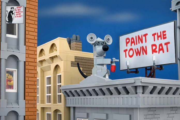 Jeff Friesen Recreates New Banksy Pieces Using LEGO