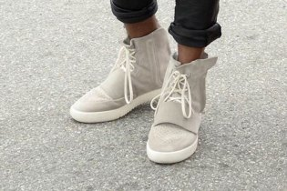 Kanye West is Seen in His New adidas Yeezy 750 Boost