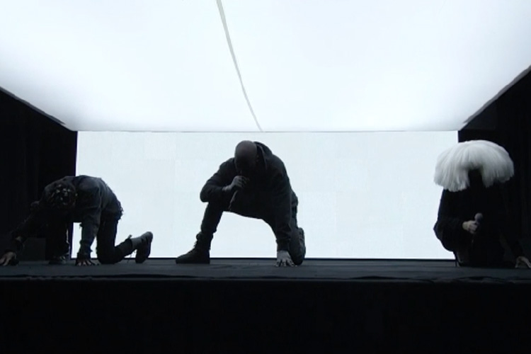 """Kanye West Performs """"Jesus Walks,"""" """"Only One"""" and """"Wolves"""" at SNL 40"""