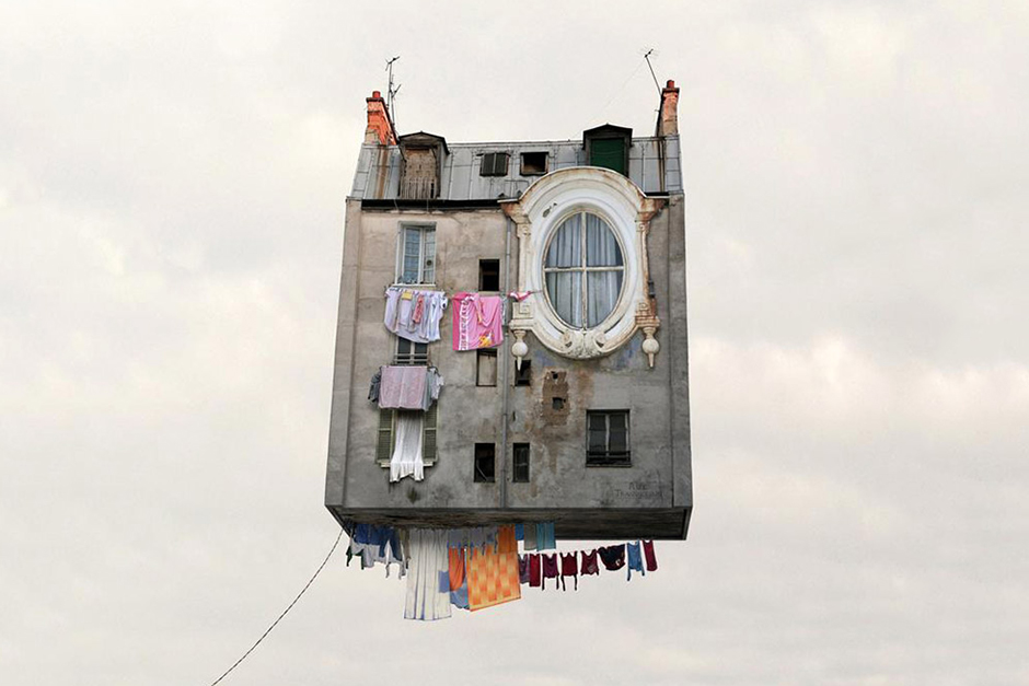 Laurent Chéhère Explores Airborne Architecture In 'Flying Houses'