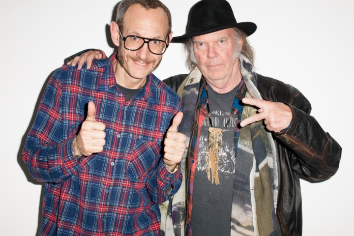 Neil Young Visits Terry Richardson's Studio