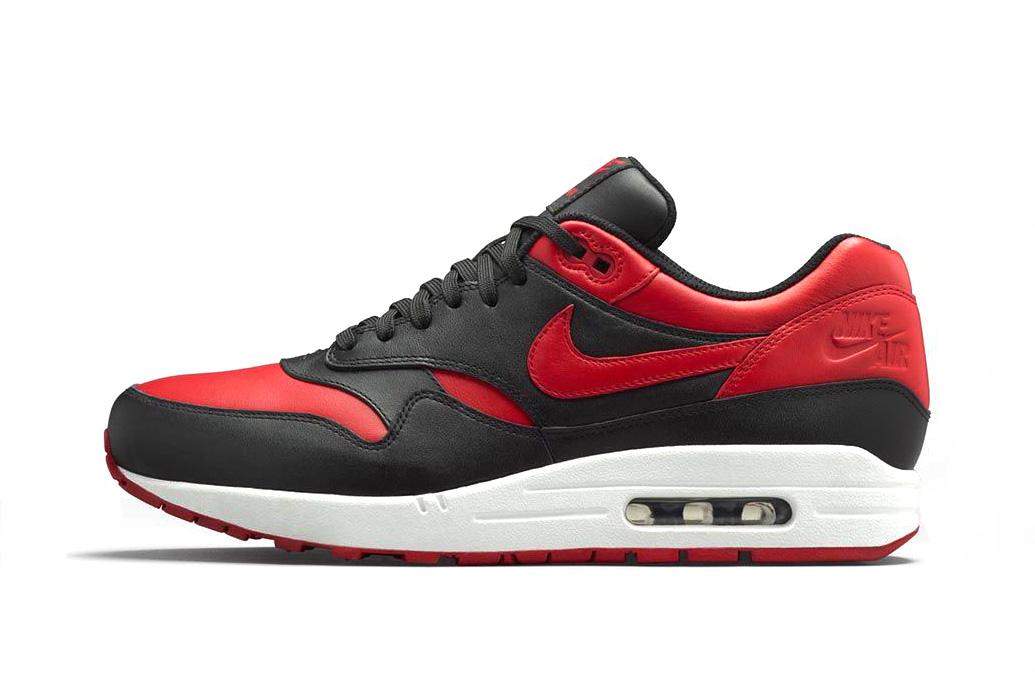 Nike Air Max 1 Premium Black/White-Varsity Red