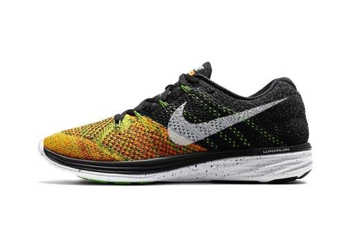 Nike Flyknit Lunar 3 Black/Electric Green
