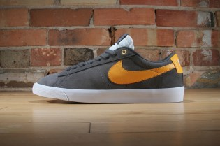 Nike SB GT Blazer Dark Grey/White–University Gold