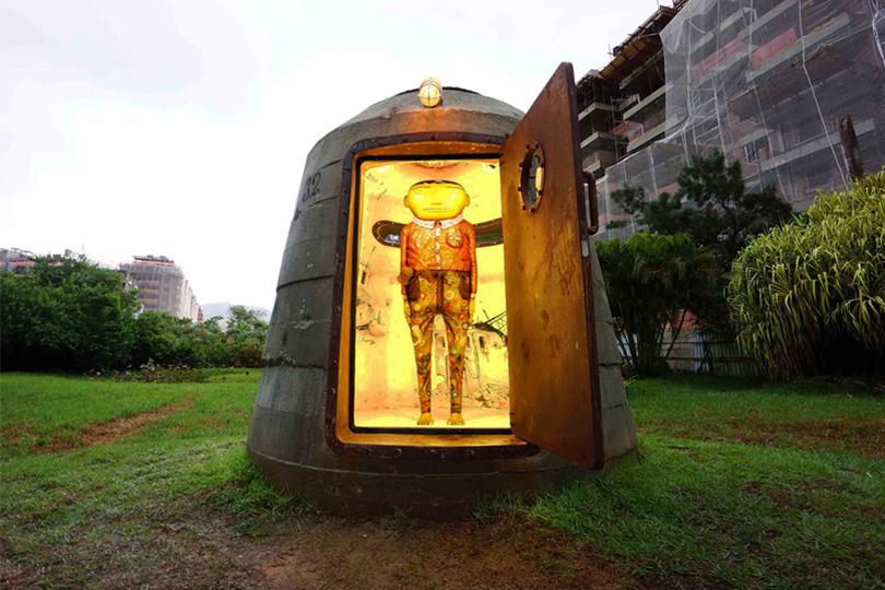 Os Gemeos Hide a Sculpture in Pascali Semerdjian's Military Bunker