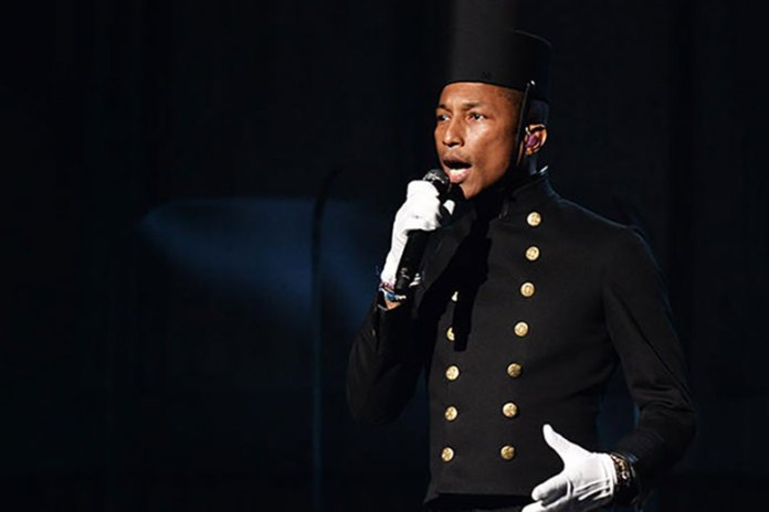 """Pharrell Williams, Hans Zimmer and Lang Lang Perform """"Happy"""" @ The 57th GRAMMY Awards"""