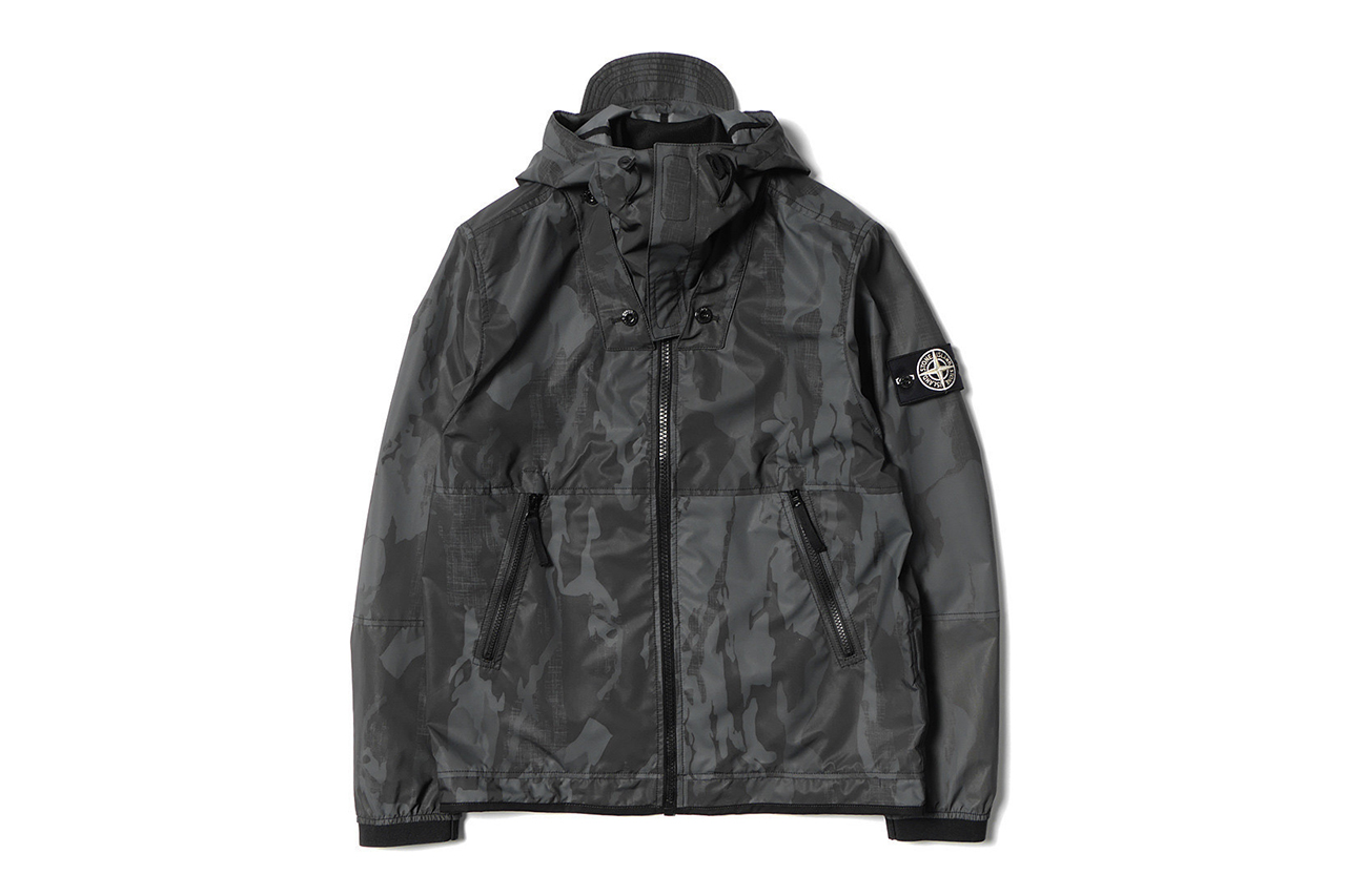 Stone Island Flowing Camo Reflex Mat Hooded Jacket