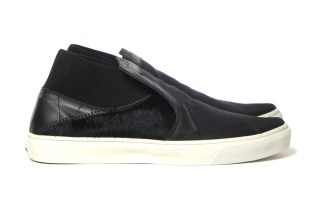 "Stone Island Shadow Project Step-on Slip-On 3_Canvas ""Leather/Pony Hair"""