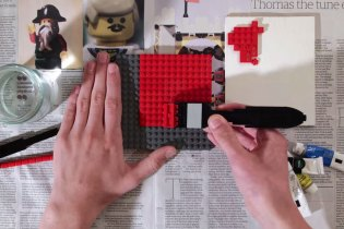 Stop-Motion Animated LEGO Painting