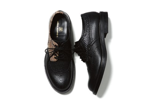 uniform experiment 2015 Spring/Summer Python Wing Tip Shoes