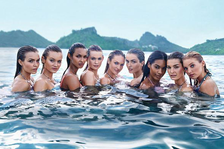 Victoria's Secret Unveils Its First Tri-Fold Swim Cover
