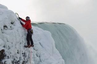 Will Gadd Climbs Frozen Niagara Falls