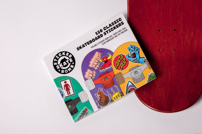 150 Classic Skateboard Stickers by Stickerbomb Skate