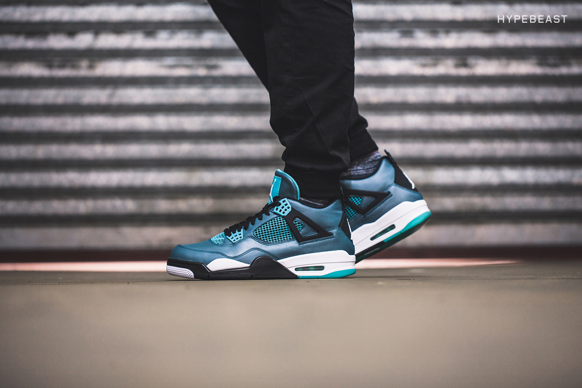 "A Closer Look at the Air Jordan 4 Retro ""Teal"""