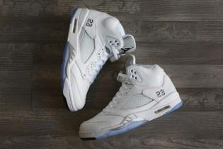 A First Look at the Air Jordan 5 Retro White/Metallic Silver-Black