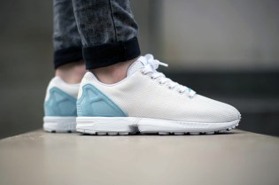 adidas Originals ZX Flux Weave Off White/Blush Blue