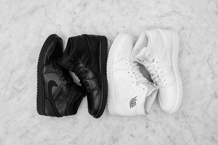 "Air Jordan 1 Mid ""Black & White"" Pack"
