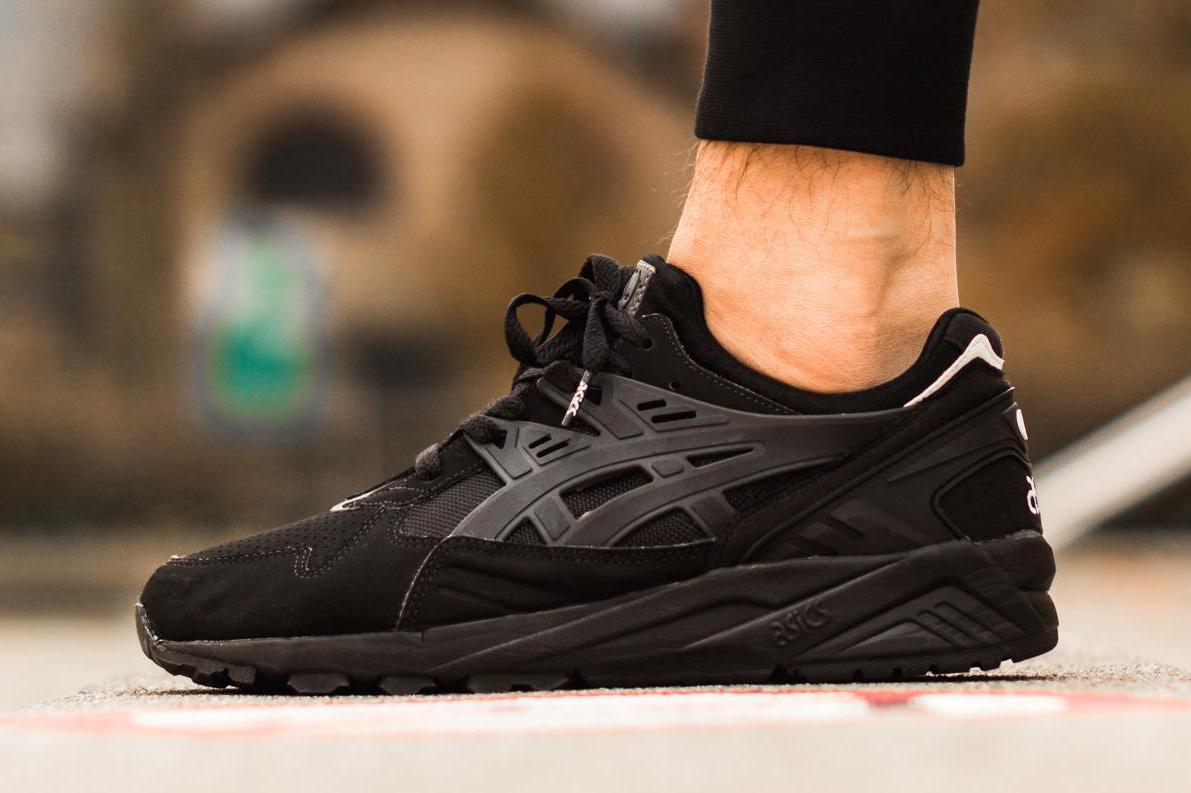asics gel kayano trainers black