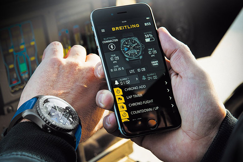 """Breitling Launches B55 """"Connected Chronograph"""""""