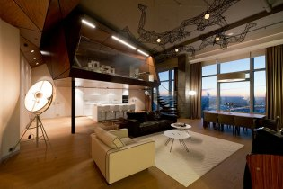 """The """"Birdman's Nest"""" Apartment in Moscow by ARCHI TE KTO"""