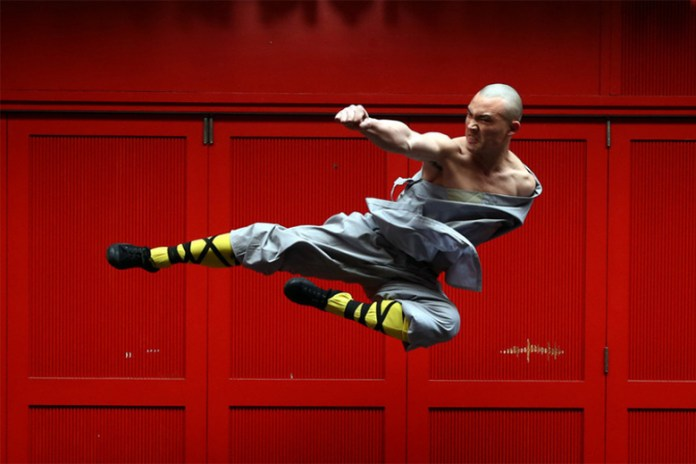Buddhist Warrior Monks Excelling at Kung Fu