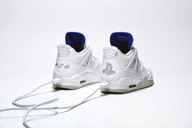 "freakerSNEAKS' Sony x Nike ""JRDN 4 X PS4 White"""