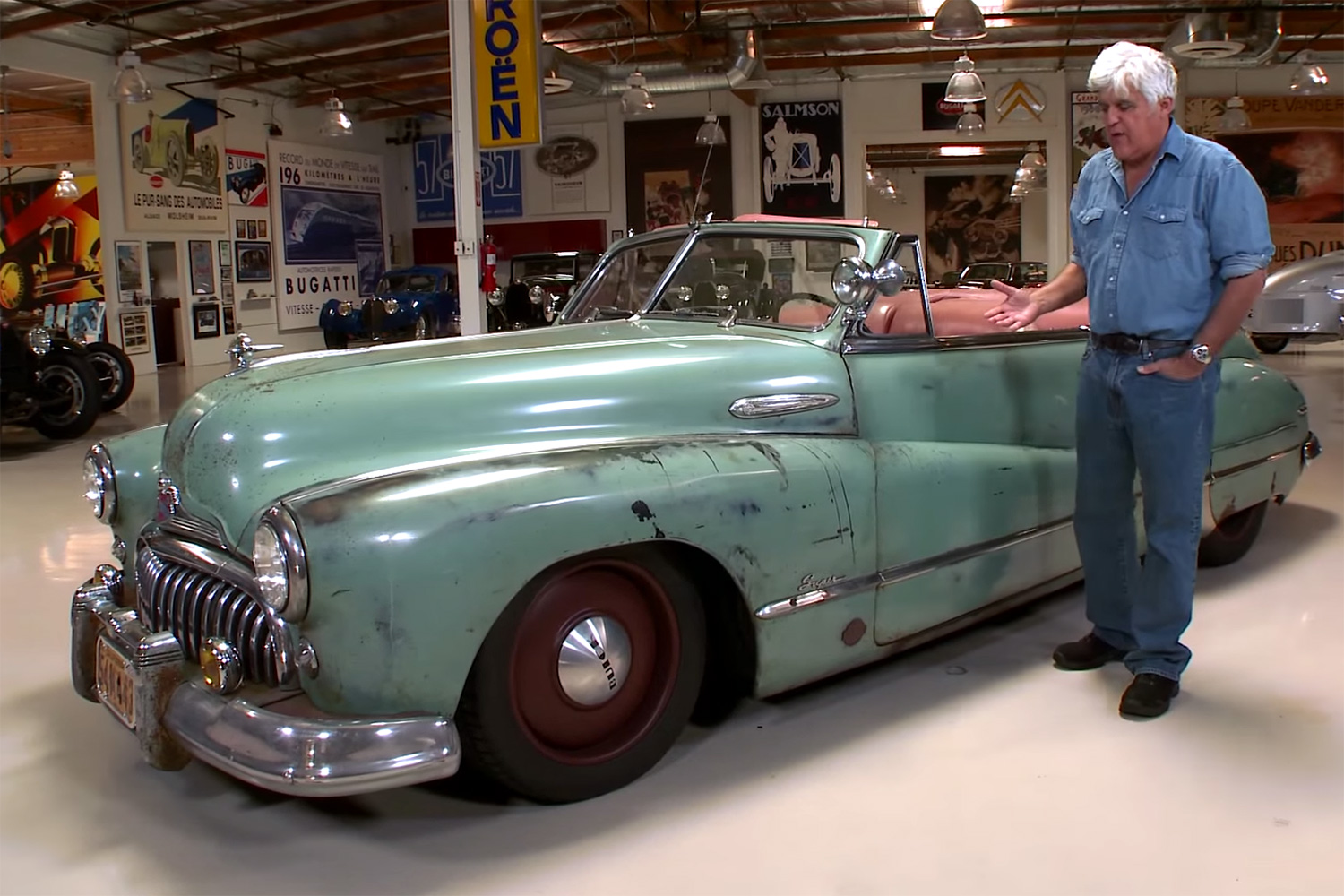 Jay Leno Takes a Ride in 1948 Buick Super Convertible